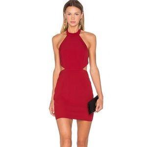 Cute out red dress